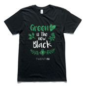 Green Is The New Black - Organic Unisex Tee Black