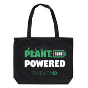 Plant Powered - Eco Biodegradable Shoulder Bag Black