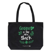 Green Is The New Black - Eco Biodegradable Shoulder Bag Black