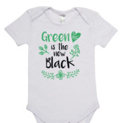 Green Is The New Black - Organic Romper