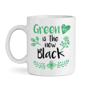 Green Is The New Black - White Ceramic Mug