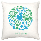 One Planet  - Linen Cushion Cover 50X50cm